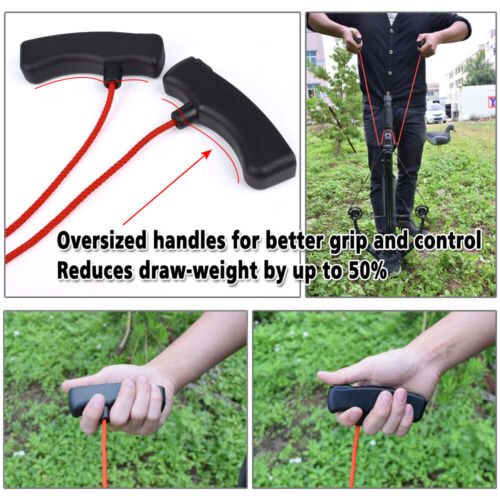Archery Crossbow Rope Cocking Device Double Handle Large Design Hunt AssistTool
