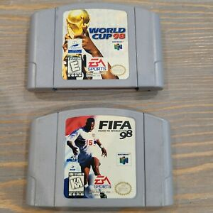 Lot-of-2-N64-Nintendo-Soccer-Sports-Games-FIFA-Road-to-World-Cup-amp-World-Cup-98