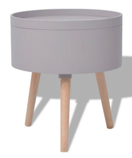 Small Round Side Table With Storage, Small Round Side Table With Drawer