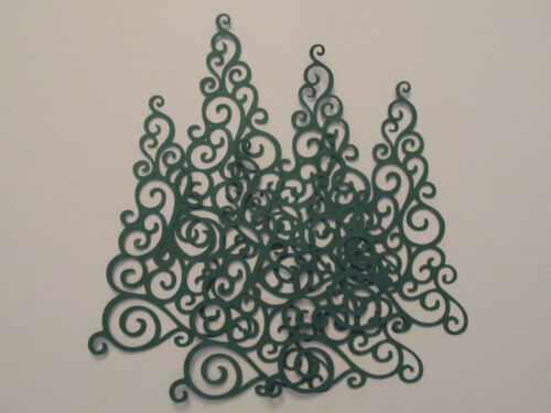 Cards Christmas Scrapbooks Decorations Lacy Green Evergreen Tree Diecuts