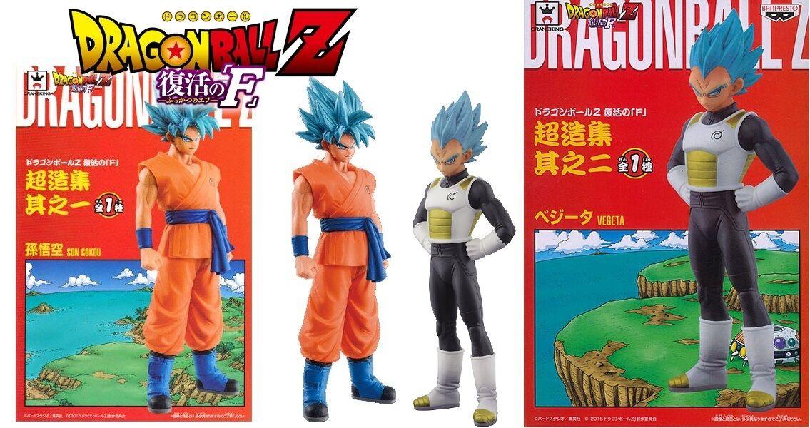 Dragon Ball Z DBZ Fukkatsu no  F Super Concrete Collection Set Super Goku Vegeta  haute qualité authentique