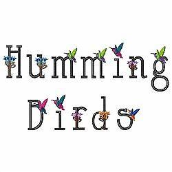 Humming Bird 62 Machine Embroidery Font Designs