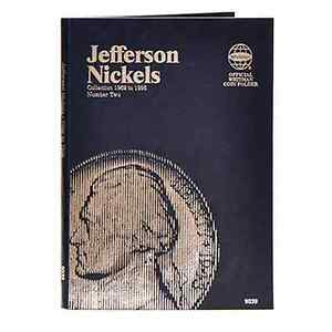 Whitman-Coin-Folder-9039-2-Jefferson-Nickel-1962-1995