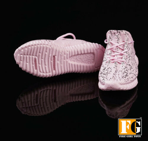 """1//6 Sneakers Running Shoes PINK For 12/"""" Hot Toys Phicen Male Female Figure USA"""