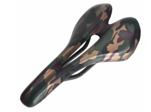 3K Carbon Fiber Camouflage Bicycle Seat Comfort PU MTB Road Bike soft Saddle