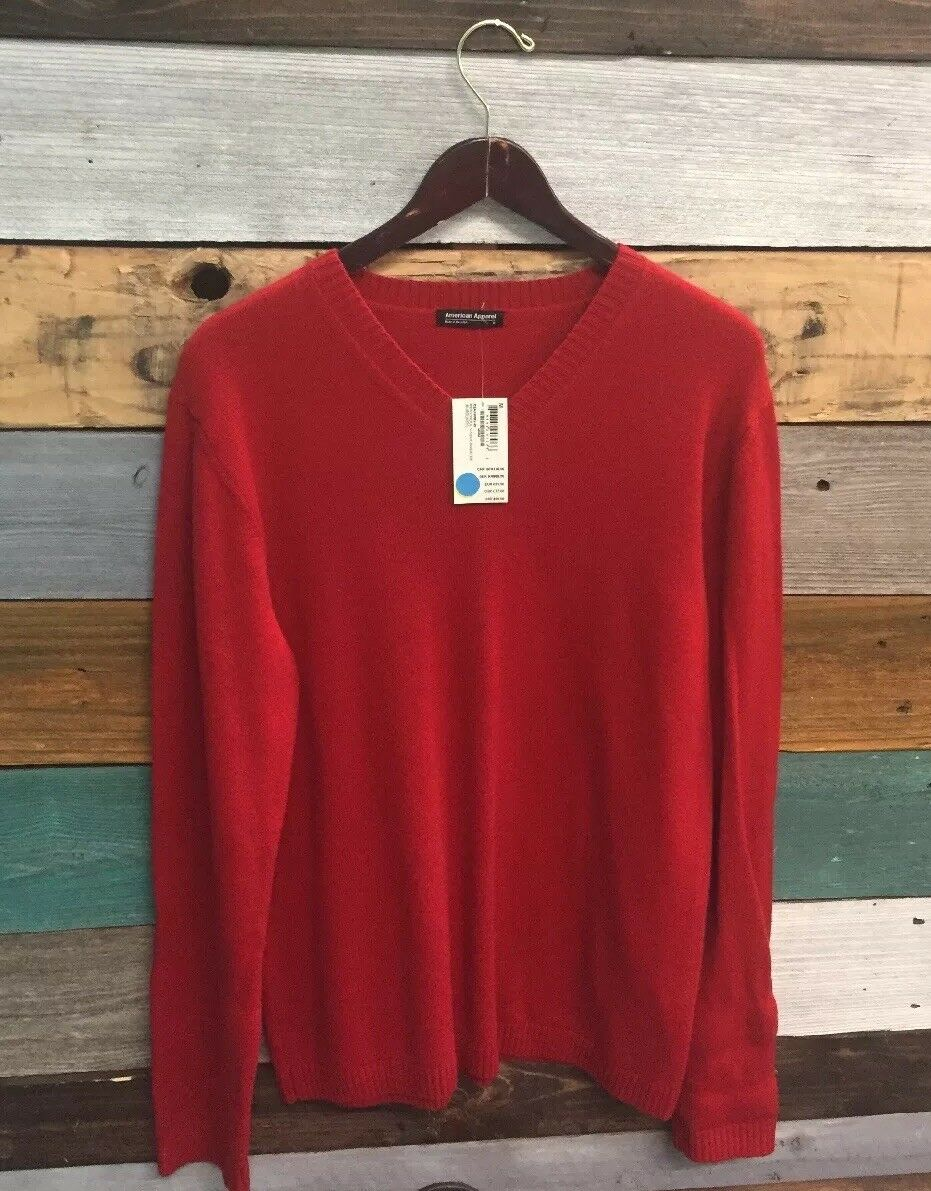 NEW American Apparel Men's Medium rot Knitted Sweater