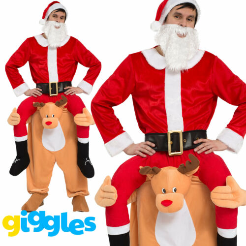 Mens Adult Ride On Me Mascot Fancy Dress Carry Costume Piggy Back Stag Do Outfit