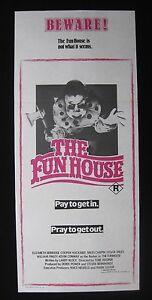 THE-FUNHOUSE-1981-Orig-Australian-daybill-movie-poster-Tobe-Hooper-horror-clown