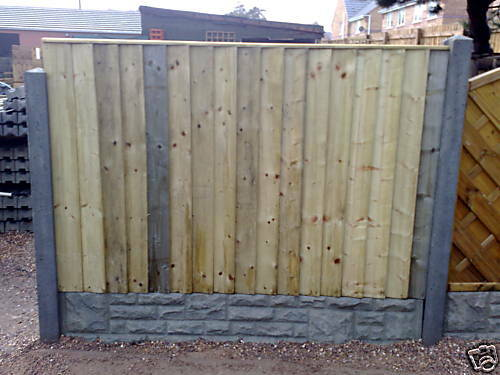 6 x 4  treated and tanalised pressure treated feather edge panel
