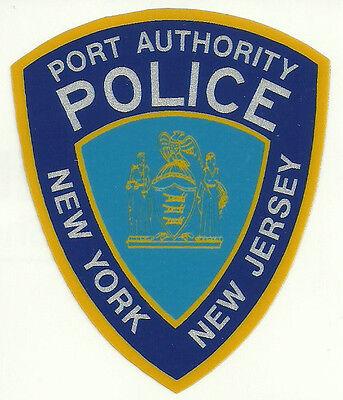 NY NJ Port Authority Police Patch Reflective Sticker 9-11 New York / Jersey PAP