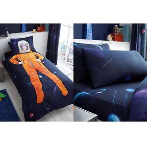 SPACE CHIMP BEDDING - SINGLE DUVET, FITTED SHEET KIDS BEDROOM ASTRONAUT