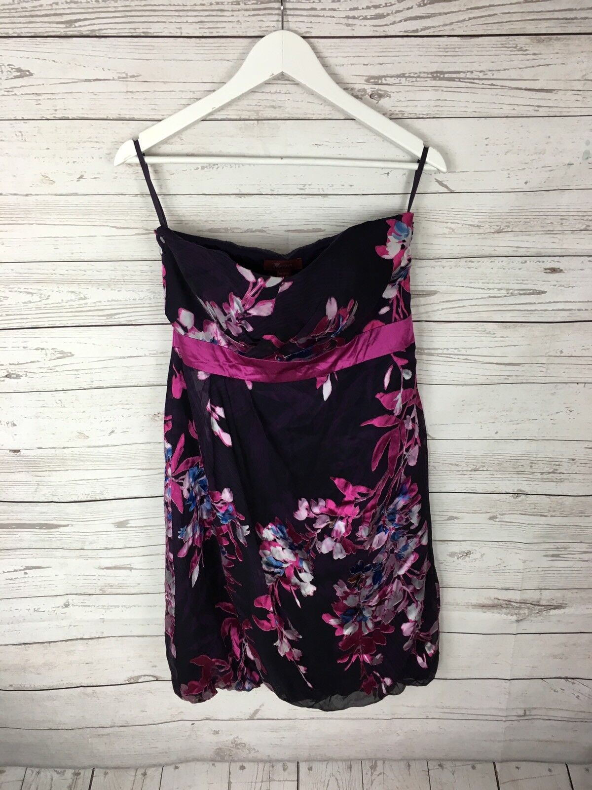 f9e64695fd2674 MONSOON Dress - Größe UK12 - Floral New with Tags Strapless - ntkffg3559- Kleider