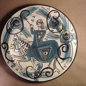 Image is loading Pintado-a-Mano-Hand-Painted-Ceramic-Wall-Plate- & Pintado a Mano Hand Painted Ceramic Wall Plate Reproducciou0027n Siglo ...