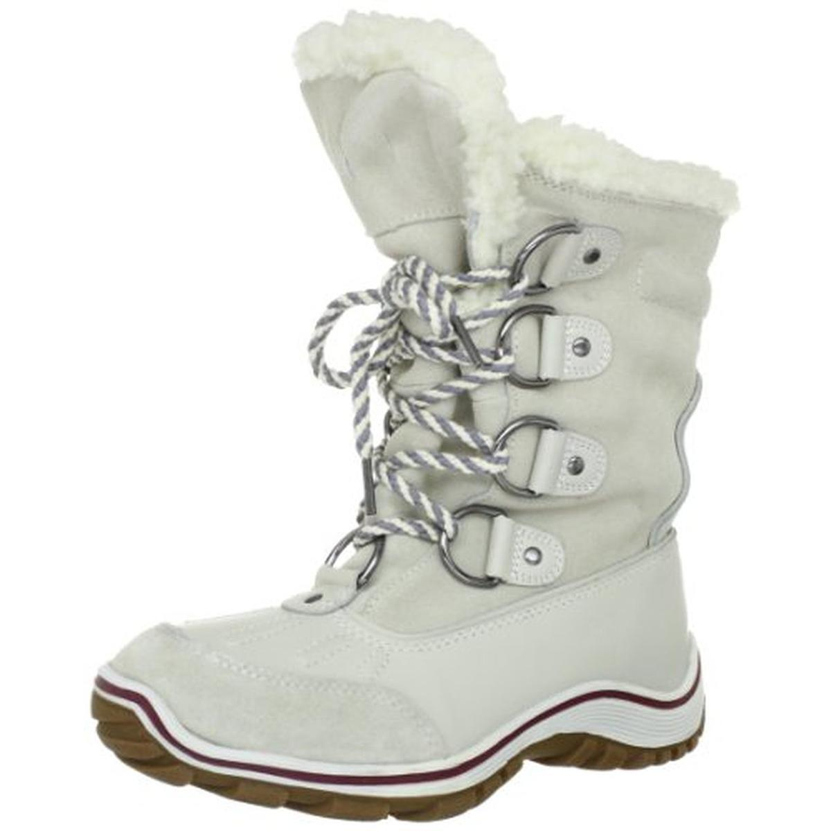 PAJAR ALINA WOMEN WHITE ICE LEATHER SUEDE WATERPROOF WINTER SNOW BOOT SZ 39  8