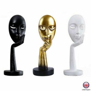 European Style Statue-Resin Sculpture Women Face Mask Ornament Black