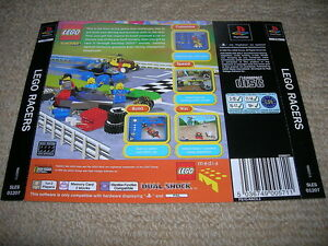LEGO-RACERS-PS1-PAL-Rear-Box-Art-Insert-Only
