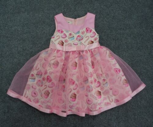 Childrens Girls Pink Cupcake Lollipop Cookie Donut Candy Popsicle Cute Dress O43