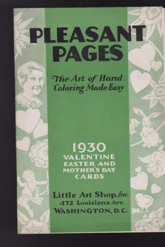 Pleasant Pages 1930 Valentine Easter & Mother's Day Cards Catalog