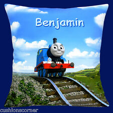 """PERSONALISED Thomas the Tank Engine ADD CHOICE OF NAME 16"""" Pillow Cushion Cover"""