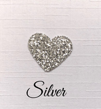 10 personalised script wedding thank you cards colour choice 3d glitter heart