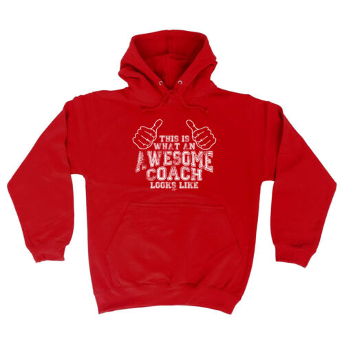 Awesome Coach Funny Novelty Hoodie Hoody hooded Top