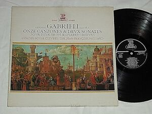 JEAN-FRANCOIS-PAILLARD-Gabrieli-Onze-Canzones-1976-ERATO-France-Pressing-LP