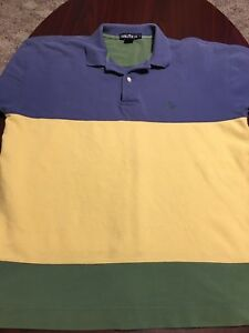 ad42cb5a8 Vintage Nautica Colorblock Short Sleeve Men's Polo Shirt Large L | eBay