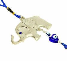 Blue Evil Eye Elephant Wall & Car Hanging Amulet Protection Blessing Decor