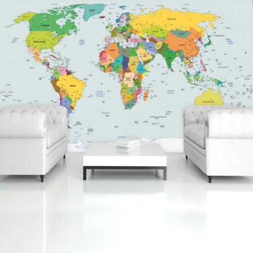 Nappes Papier peint papier peint peintures murales carte du monde carte 12 MOTIFS DECORATION Welte 2var