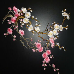 2pcs-Plum-Blossom-Flower-Applique-Embroidery-Patch-Iron-On-Patch