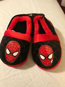 Amazing SPIDER-MAN  SLIPPERS Boys Sizes 5//6 7//8  SPIDERMAN