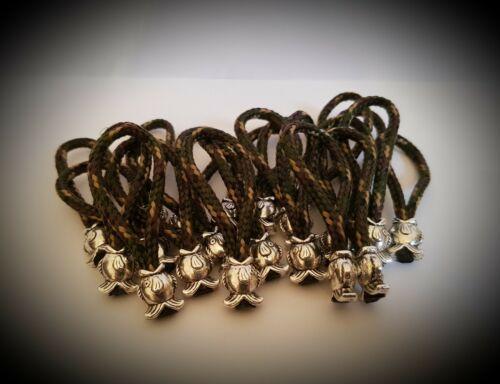 Lot de 10.. 3 mm Charmed de Tirettes de fermetures à glissière pour pêche à la carpe bagages les écureuils Nuts
