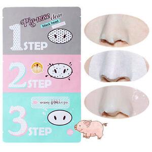 3-Step-Kit-Cosmetic-Korea-Holika-Holika-Pig-nose-Clear-Remove-Black-Head-Beauty
