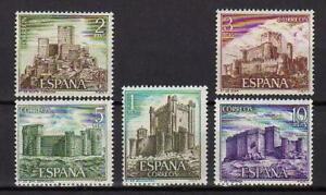 A7807-Spain-1972-Scott-1720-24-MNH-Castles-5v