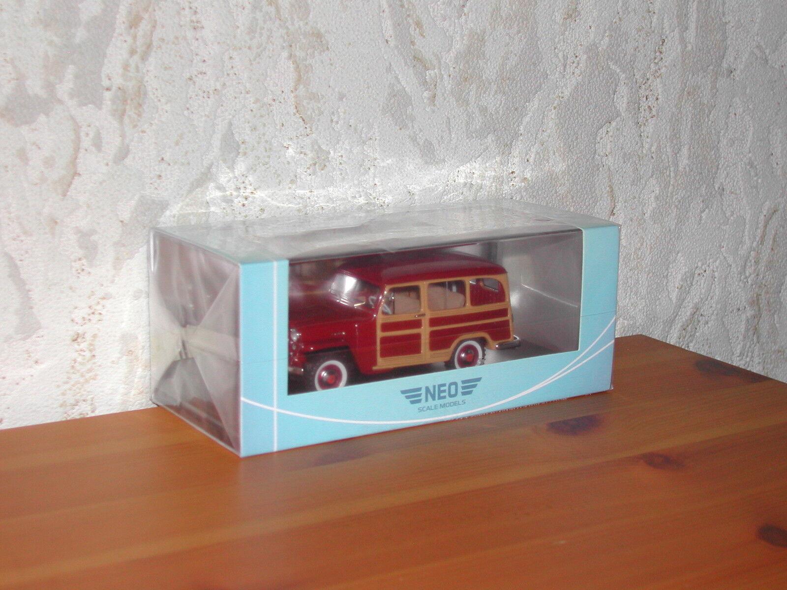 NEO Jeep Willys Station Wagon 1954 1 43