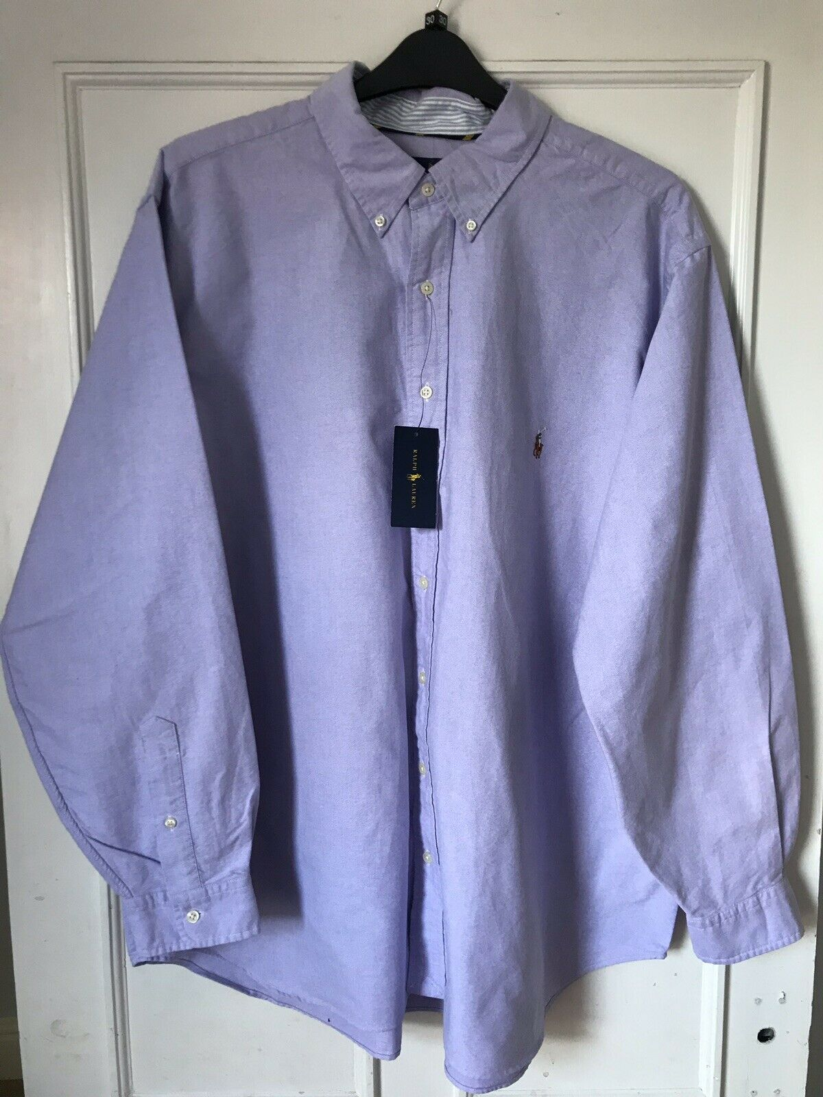 Mens Authentic Polo Ralph Lauren purplec Long Sleeve Shirt, Size 2XL Big, New