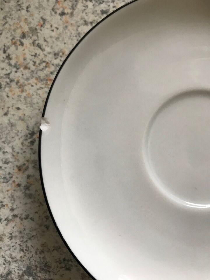 Porcelæn, Kopper med underkop, Sort Atelier