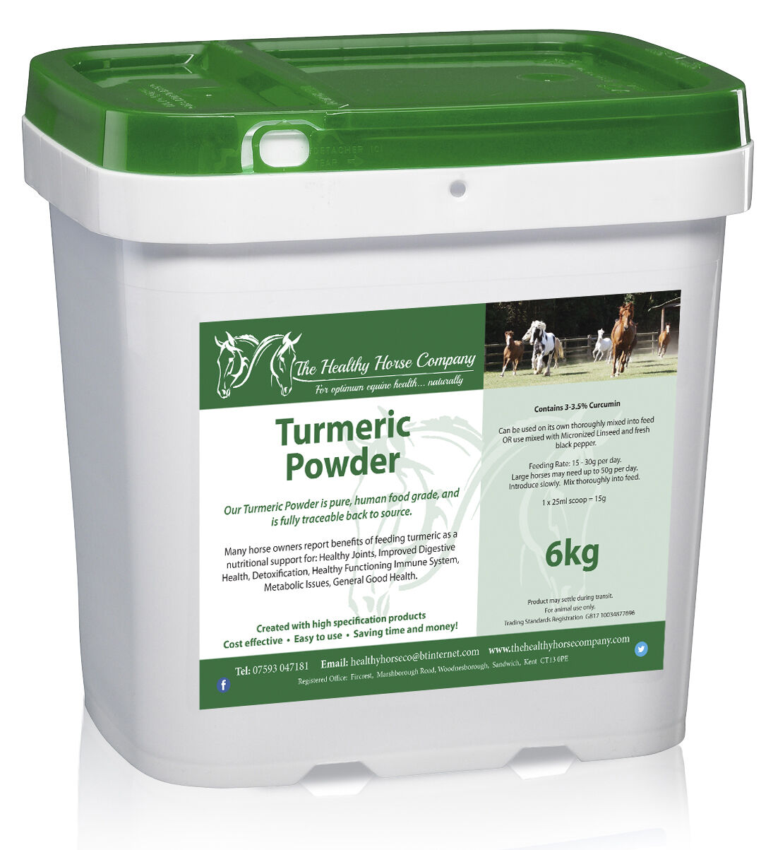Turmeric Powder 6kg Refill - contains 3-3.5% Curcumin - (Immune System, Joints)