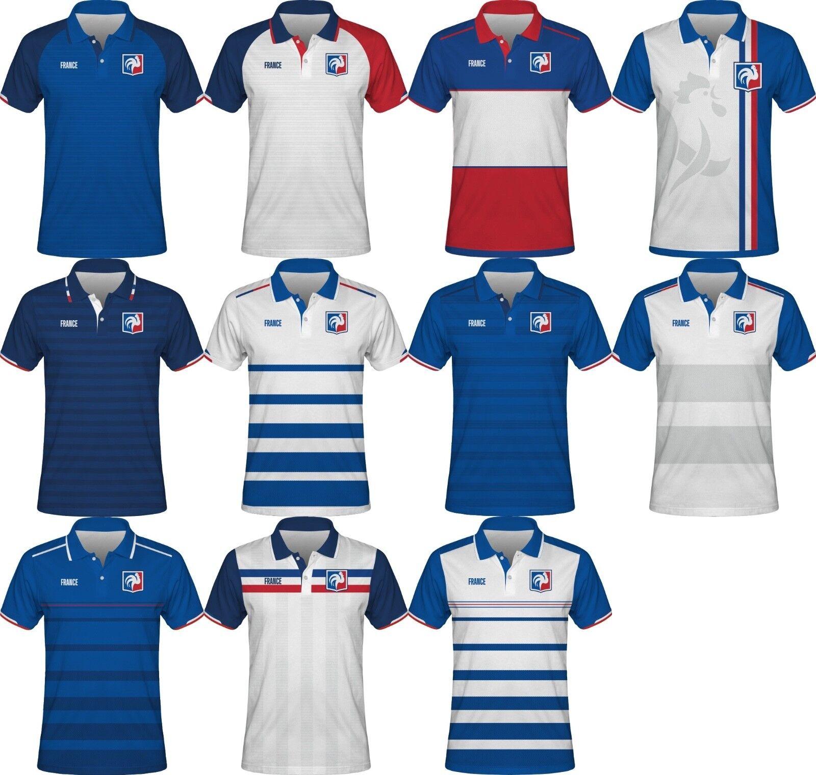 7dca677d5 FIFA WORLD CUP 2018 France Football Soccer Polo T-Shirt POGBA GIROUD ...