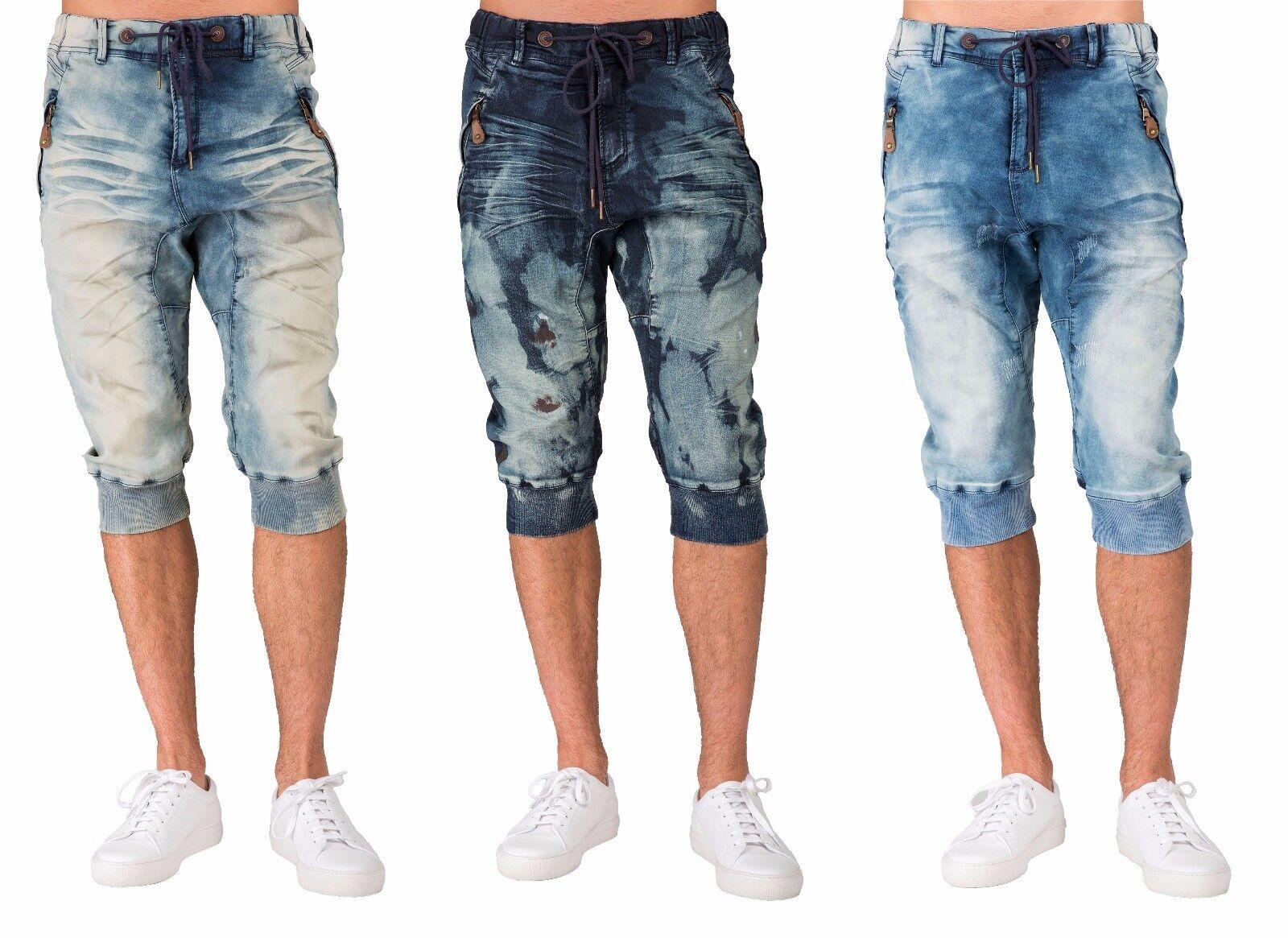 e4f9561746 Level 7 Men's Premium Capri Knit Denim Shorts Medium bluee Jogger Clouded  nvdptj25442-Shorts