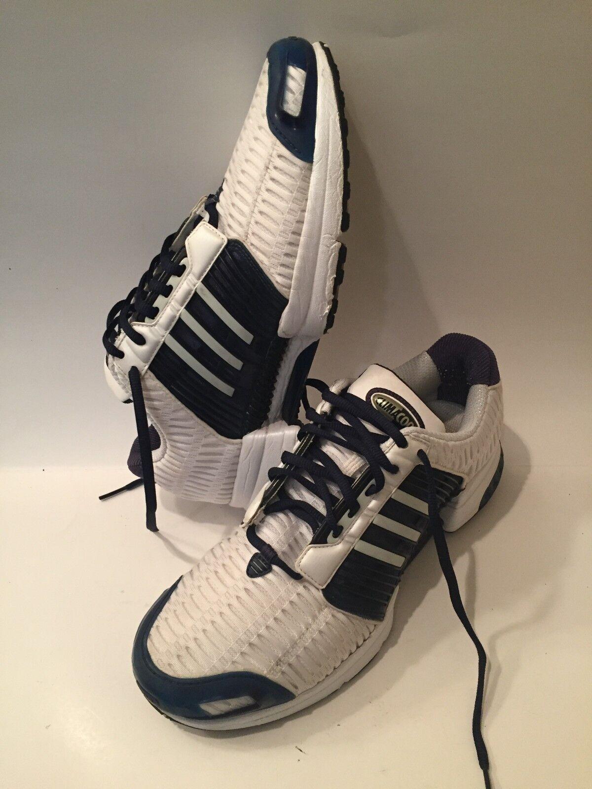 Mens Vintage Adidas Climacool Mesh running shoe white navy  Sz 10 EUC