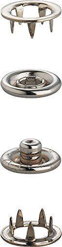 Broche en 10mm Níquel sin Cierre prym 100 X prym Botones a Presión Cierres