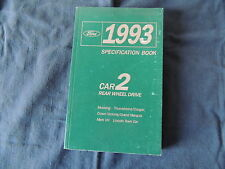 Datenbuch 1993 Ford Mustang Thunderbird Cougar Crown Victoria Mark 8 Lincoln Tow
