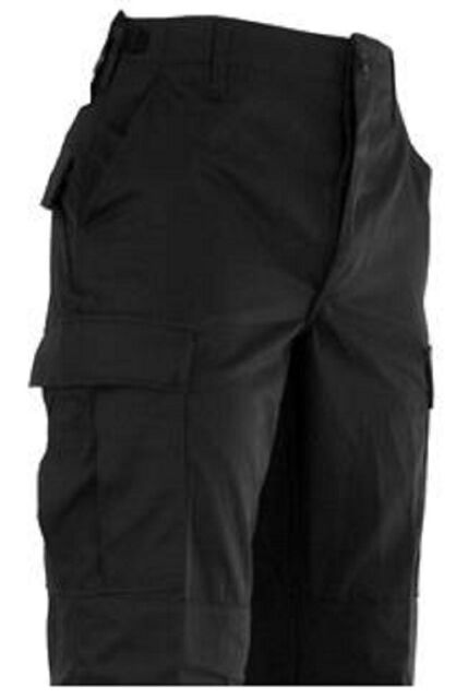 Black Relaxed Fit Military Zipper Fly XLong BDU Cargo Shorts Rothco 7761
