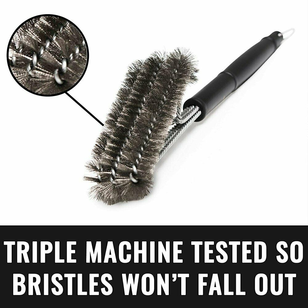 Stainless Steel BBQ Cleaning Grill Brush and Scraper Grillin