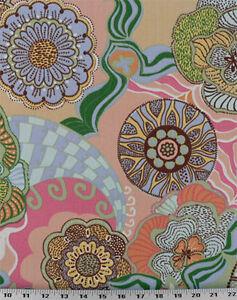 Drapery Upholstery Fabric Indoor Outdoor Retro Tropical Print