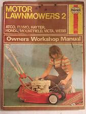 HAYNES MOTOR LAWNMOWER MANUAL ATCO FLYMO HAYTER HONDA VICTA WEBB MOUNTFIELD 1988
