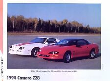 1994 Chevrolet Camaro Z/28 LT1 info/specs/photo/prices production numbers 11x8