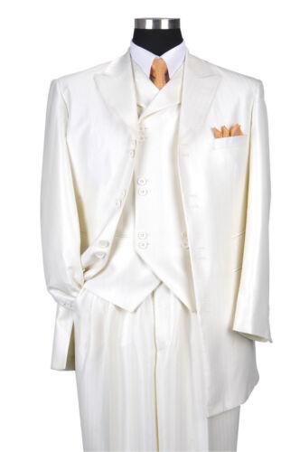 Men/'s 3 piece Luxurious Suit Wool Feel Herring Bone Stripe  Style  M-5264V