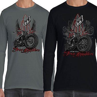 Coscienzioso Da Uomo Da Motociclista A Maniche Lunghe T Shirt Rumbler Tra Bobber Vintage Bike Moto Abbigliamento 28-mostra Il Titolo Originale